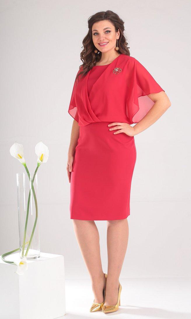 Платье Мода Юрс 2379 коралл