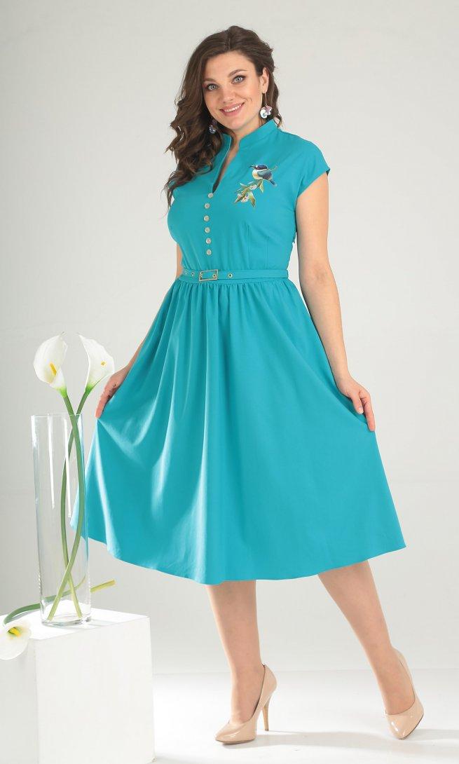 Платье Мода Юрс 2394 бирюза