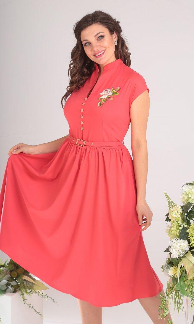 Платье Мода Юрс 2394 коралл