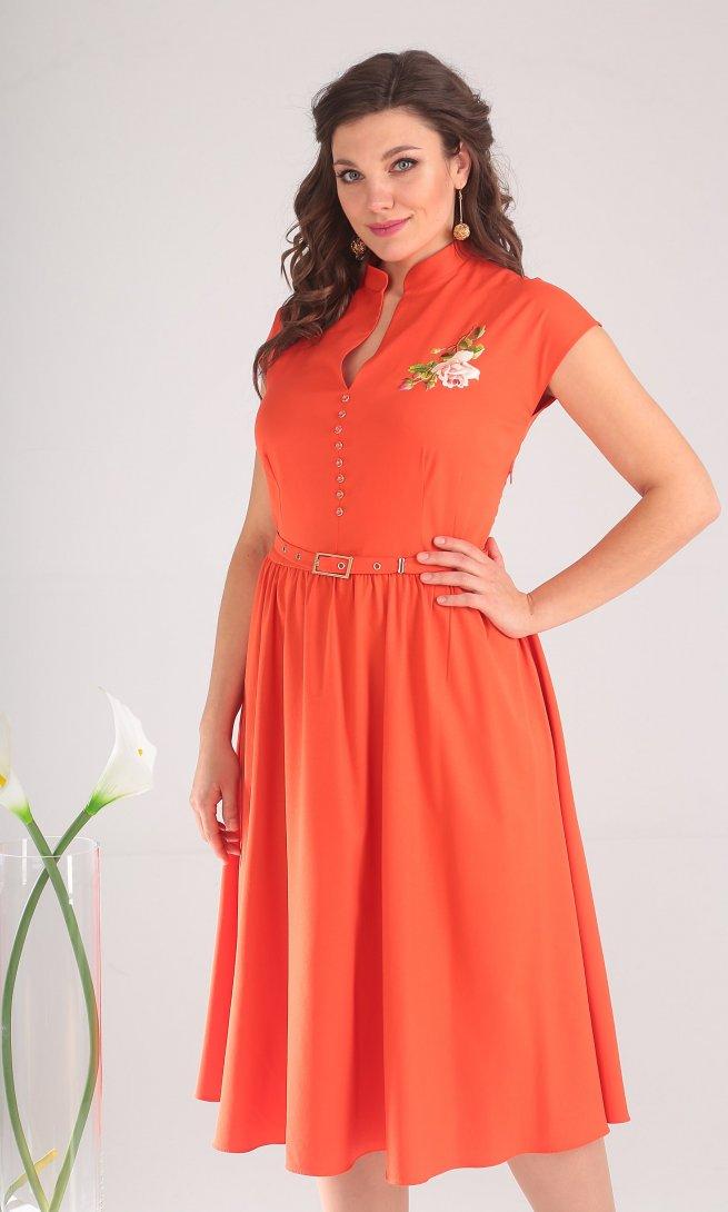 Платье Мода Юрс 2394 оранжевое