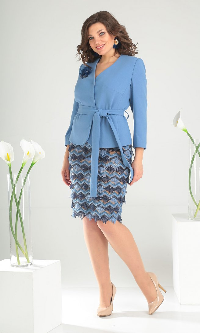 Комплект Мода Юрс 2447 голубой