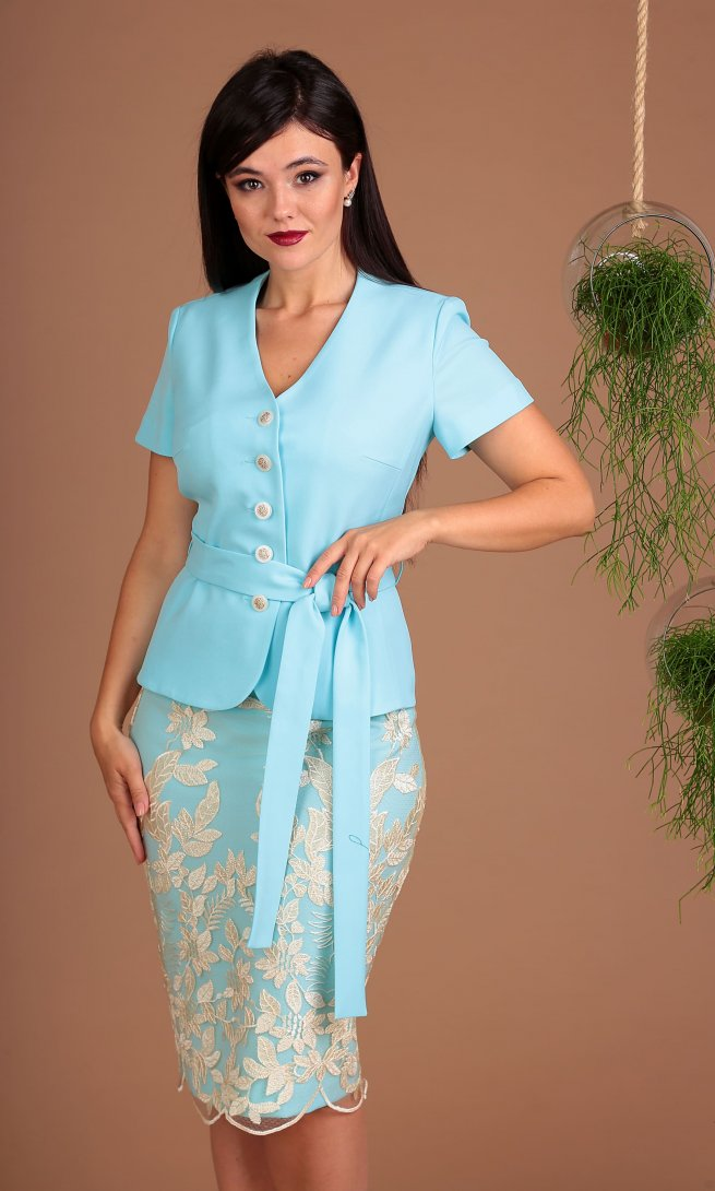 Комплект Мода Юрс 2469 голубой