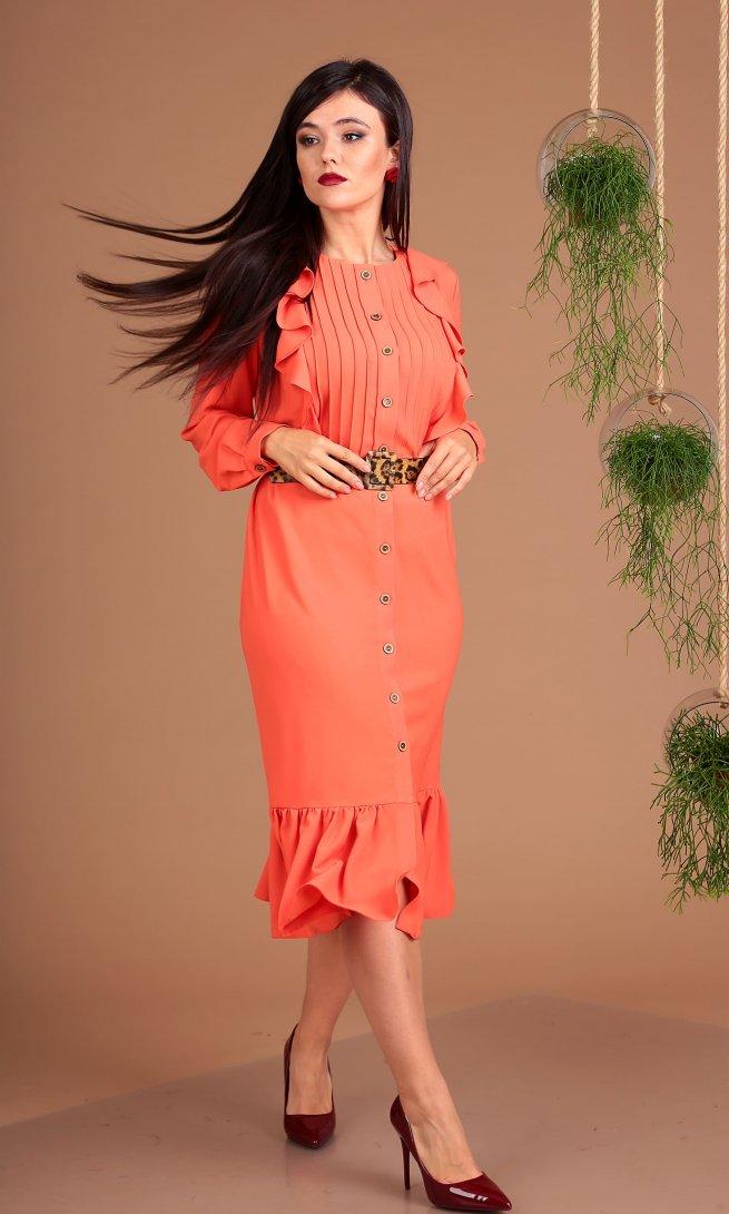 Платье Мода Юрс 2484 оранжевое