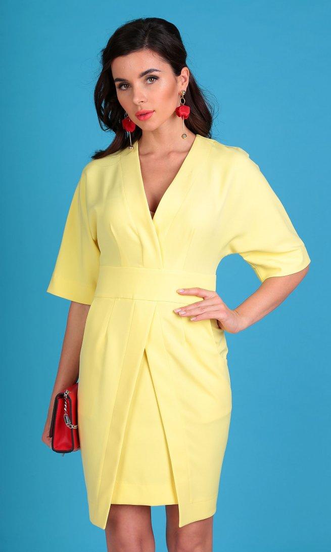 Платье Мода Юрс 2334 желтое