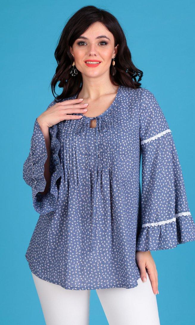 Блуза Мода Юрс 2345 синяя