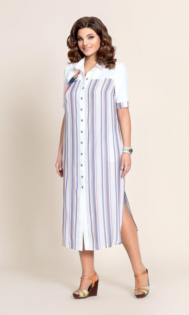 Платье Mubliz 226 широкая полоска