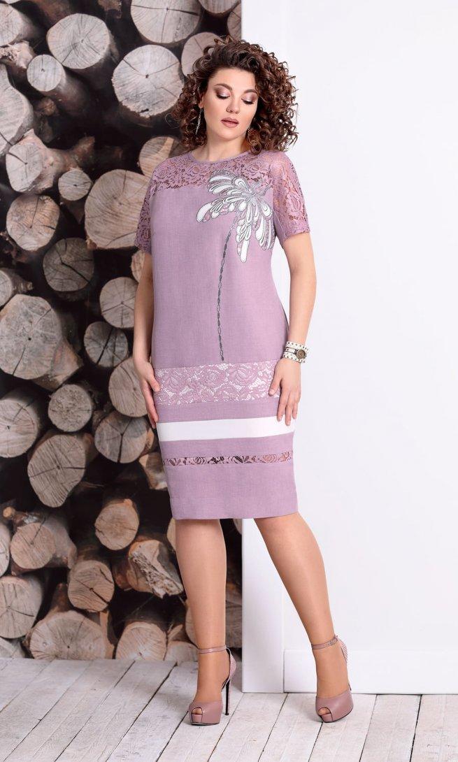 Платье Mubliz 327 пыльная роза