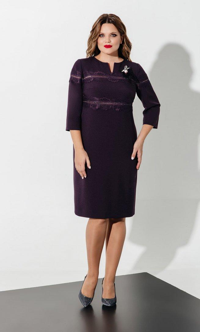 Платье Olegran 619 баклажан