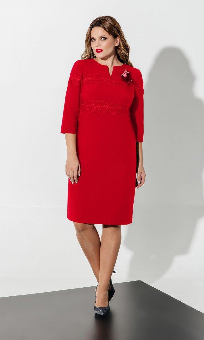 Платье Olegran 619 красное