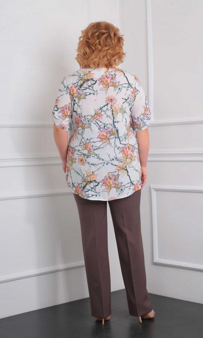 Блуза Орхидея Люкс 910 лилии