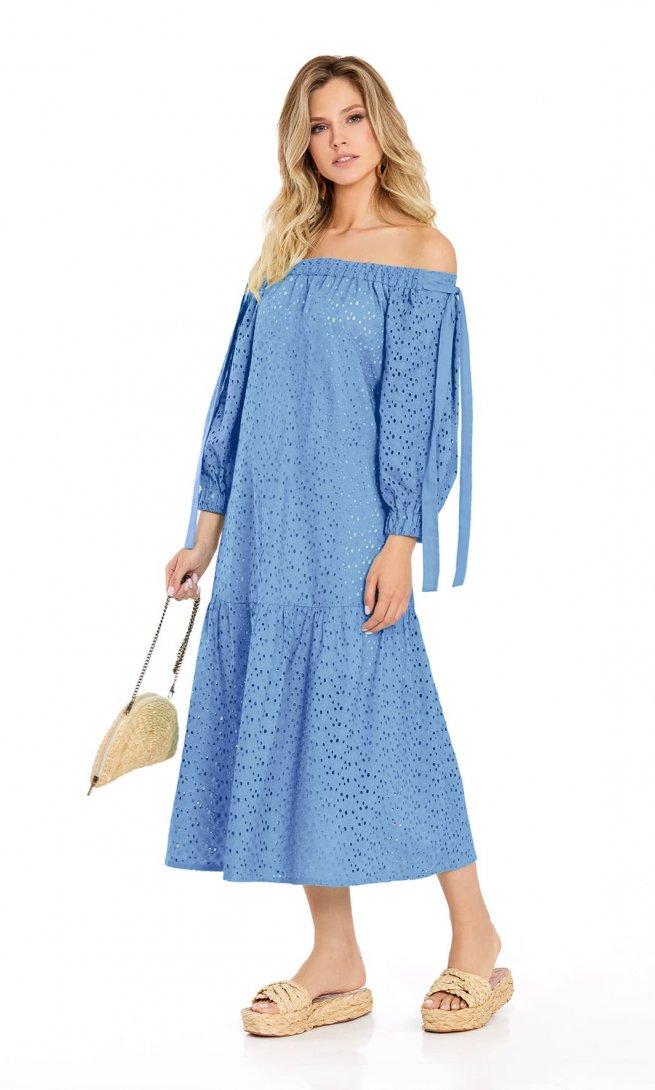 Платье Pirs 719 голубое