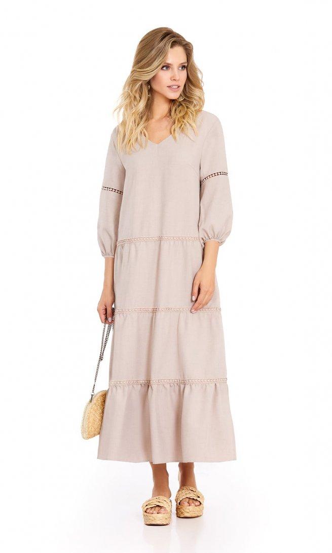 Платье Pirs 724 пудра