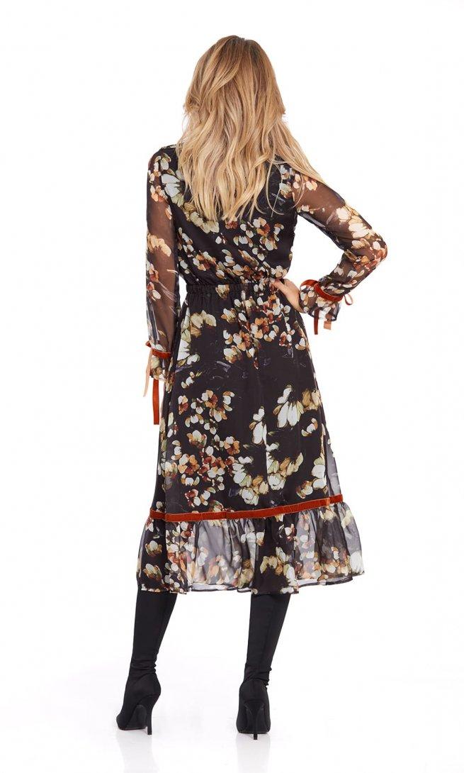 Платье Pirs 796 цветы