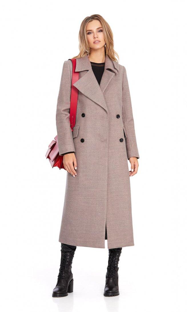 Пальто Pirs 801 бежево-серый