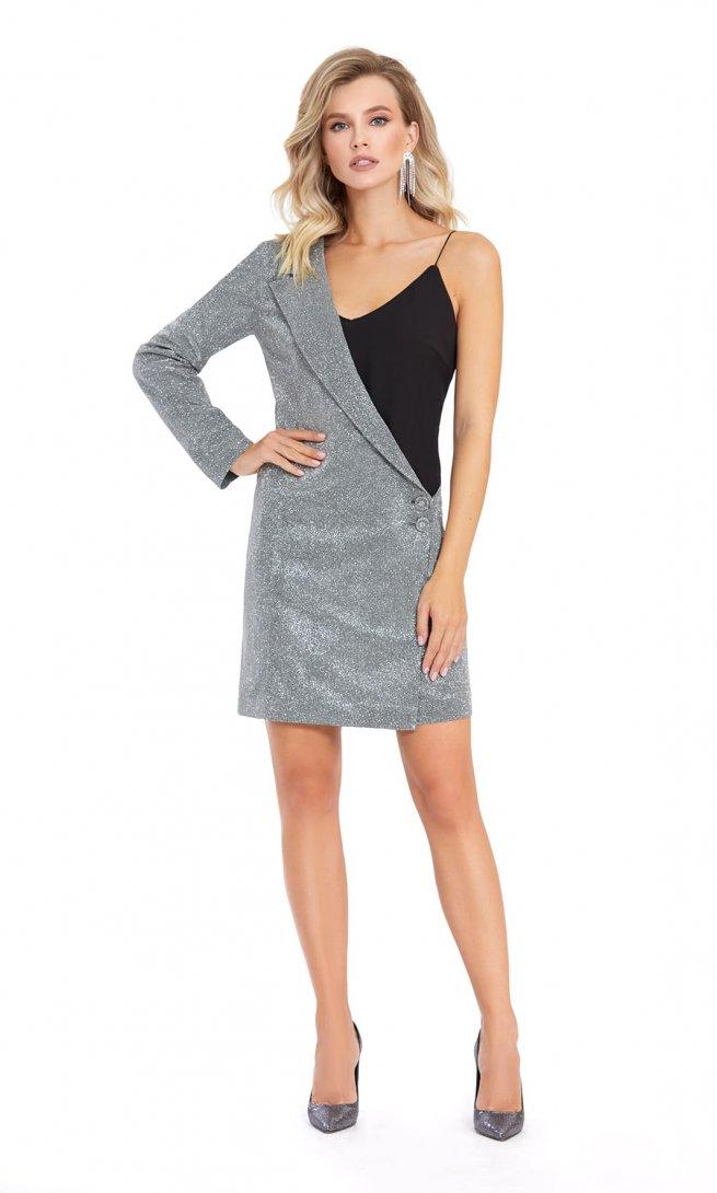 Платье Pirs 870 серебряное