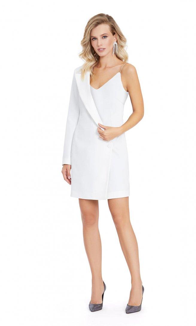 Платье Pirs 870 белое однотон