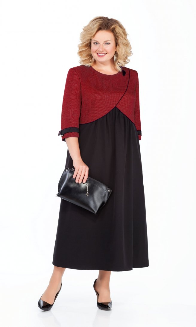Платье Pretty 926 бордо/черный