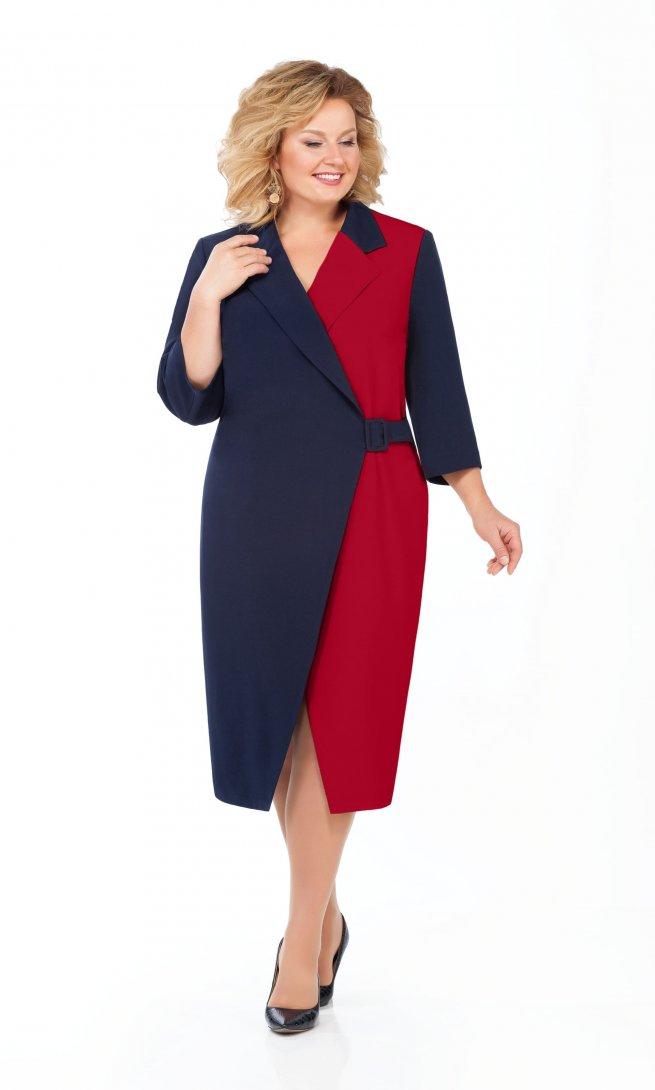 Платье Pretty 929 бордо/синий