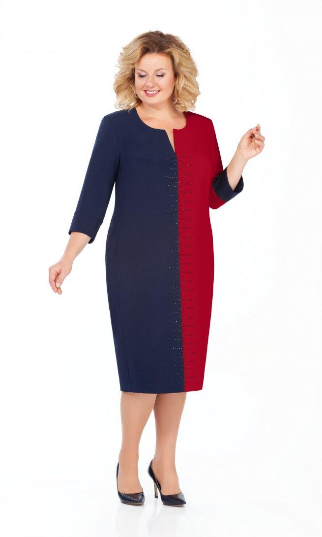 Платье Pretty 930 бордо/синий