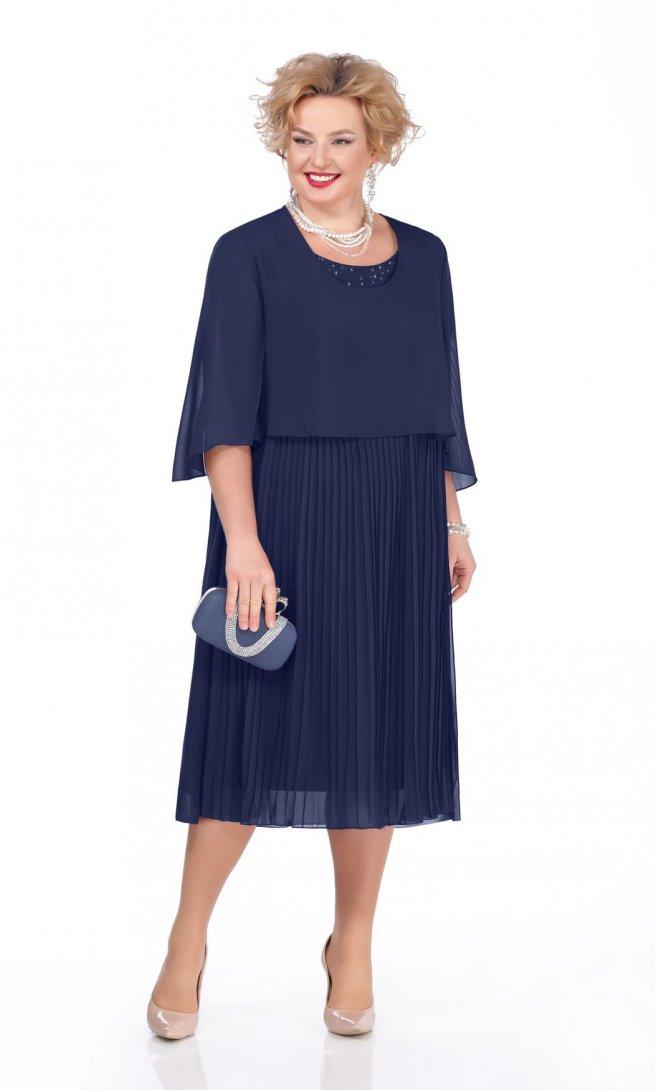Платье Pretty 960 темно-синее