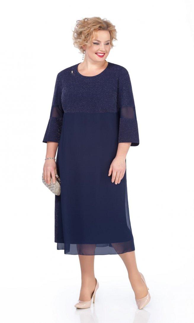 Платье Pretty 970 темно-синее