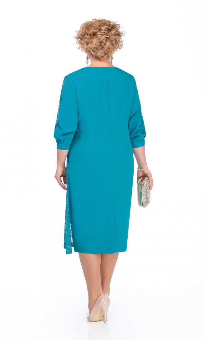 Платье Pretty 972 бирюзовое
