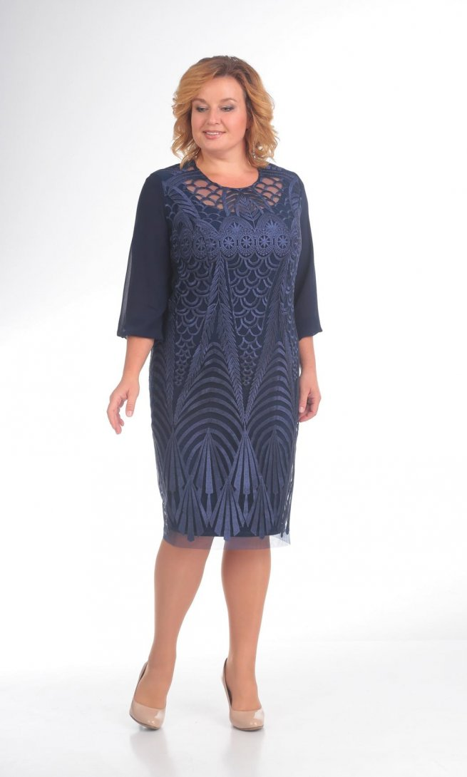 Платье Pretty 782 синее
