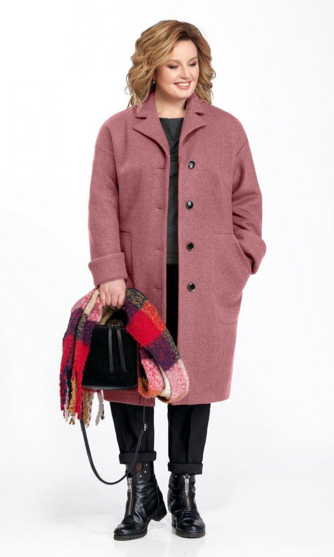 Пальто Pretty 832 грязно-розовое