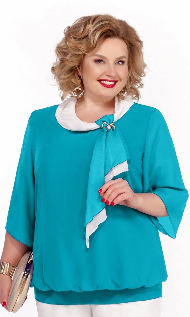 Блуза Pretty 380 бирюза-П