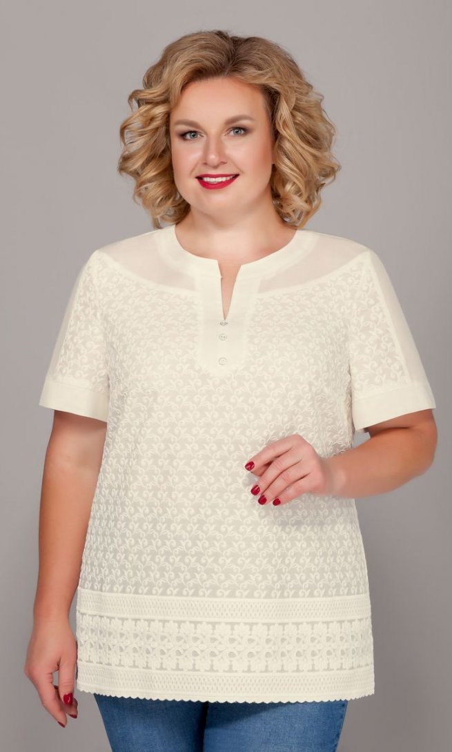 Блуза Emilia 423-1 молочный
