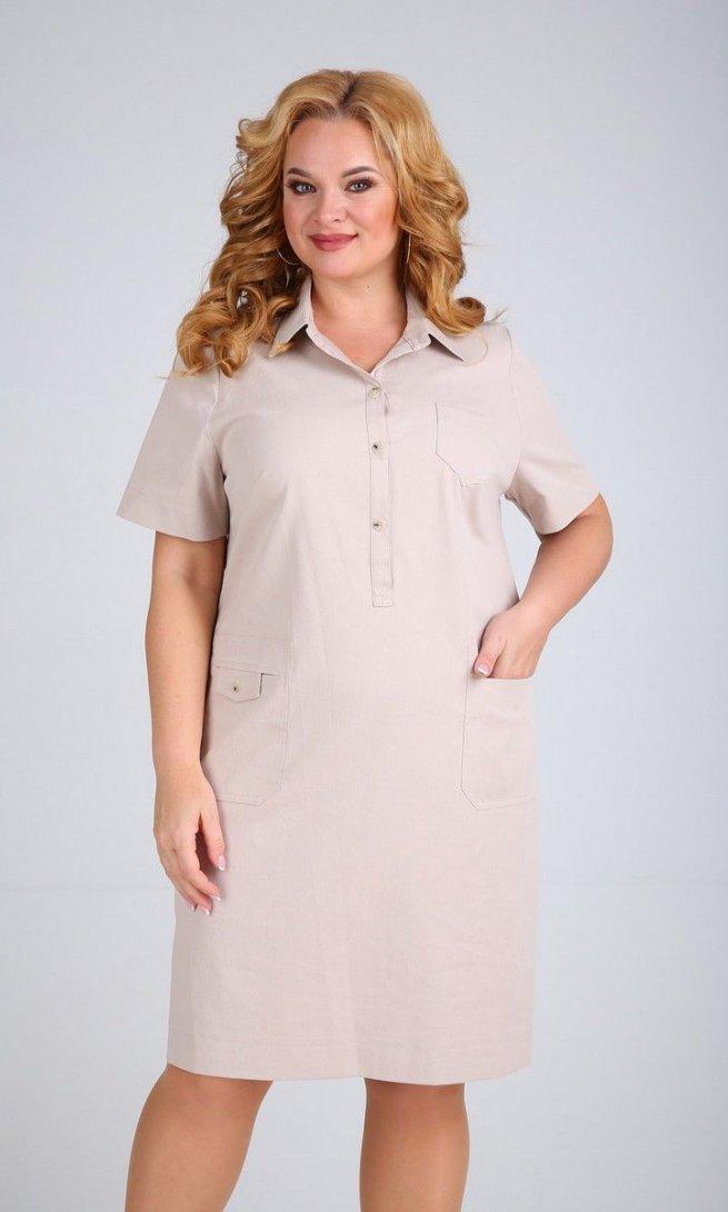Платье Mamma Moda М-600 светло-бежевый