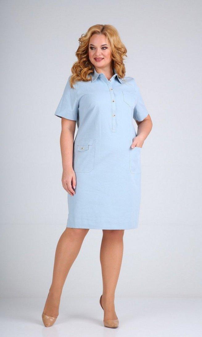 Платье Mamma Moda М-600 светло-голубой
