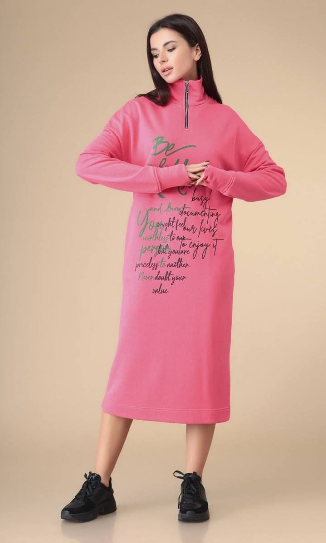 Платье Стиль Романовича 1-2205 розовый