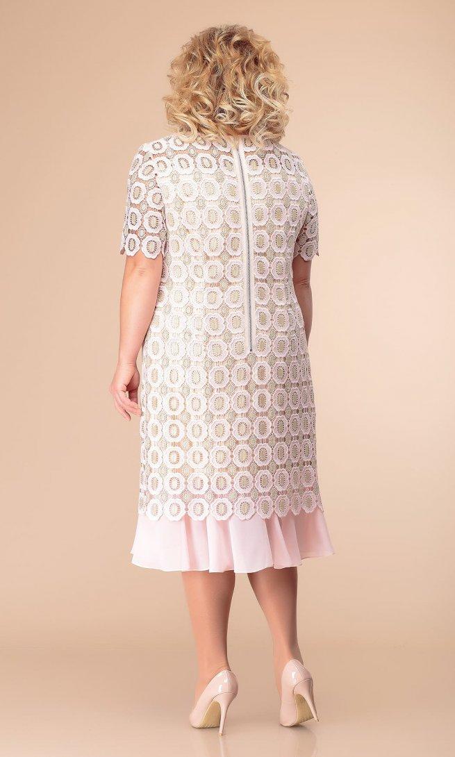 Платье Стиль Романовича 1-1849 нежно-розовое
