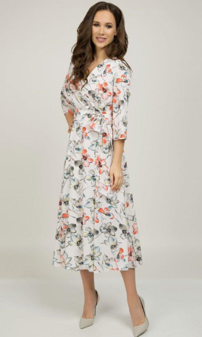 Платье Teffi Style 1396 лосось