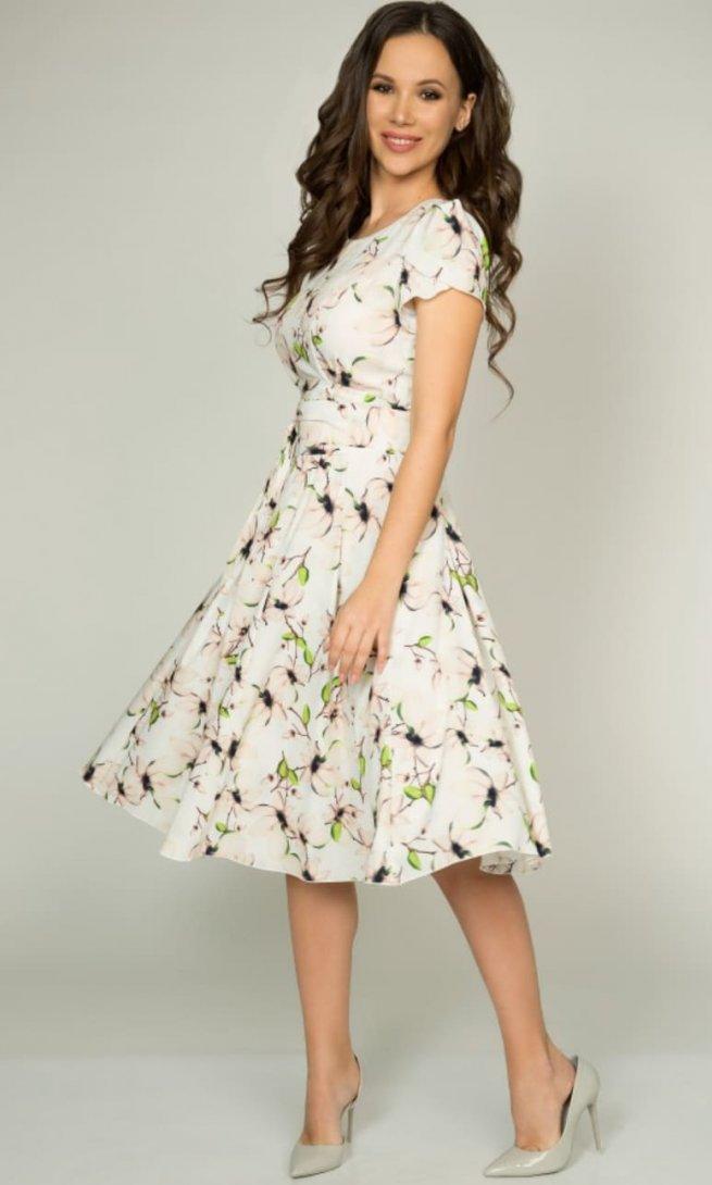 Платье Teffi Style 721/2 зеленый лист