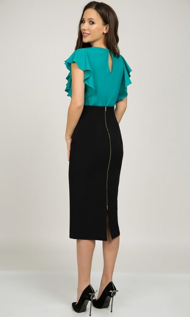 Блуза Teffi Style 1398 бирюза