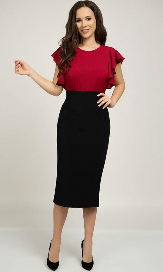 Блуза Teffi Style 1398 бордо