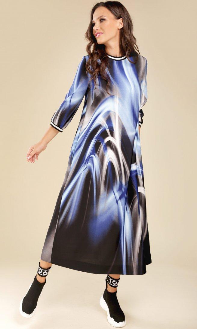 Платье Teffi Style 1432 синие цветы