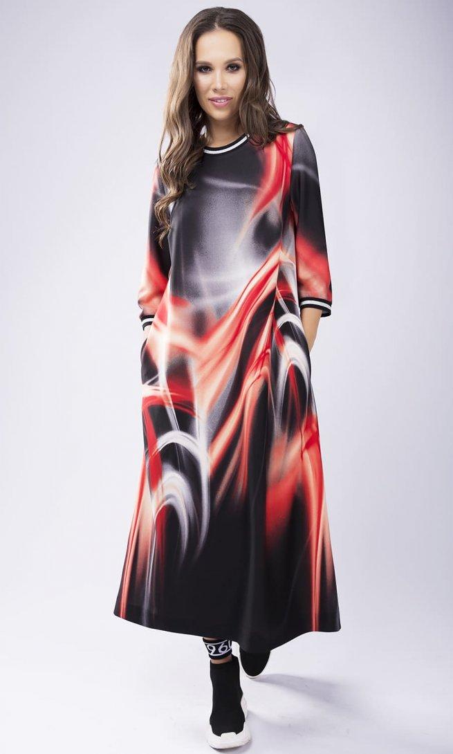 Платье Teffi Style 1432 красные цветы