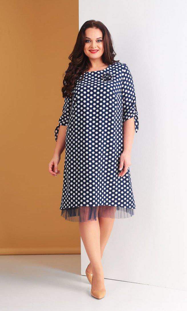Платье Тэнси 265 синее/белый