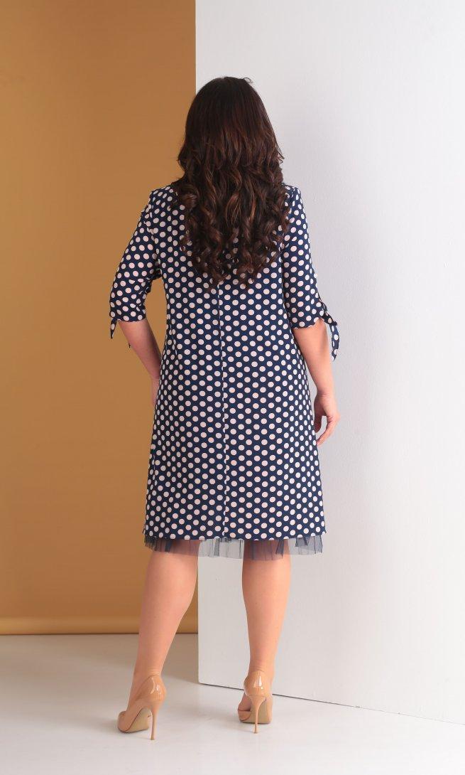 Платье Тэнси 265 синее/пудра