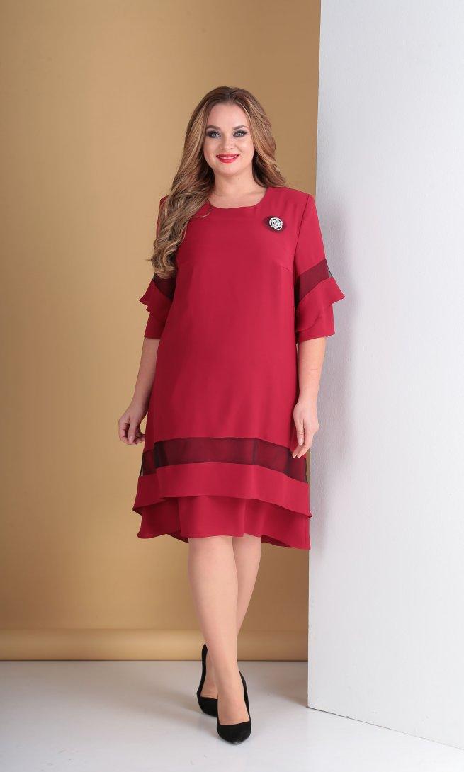 Платье Тэнси 279 вишня