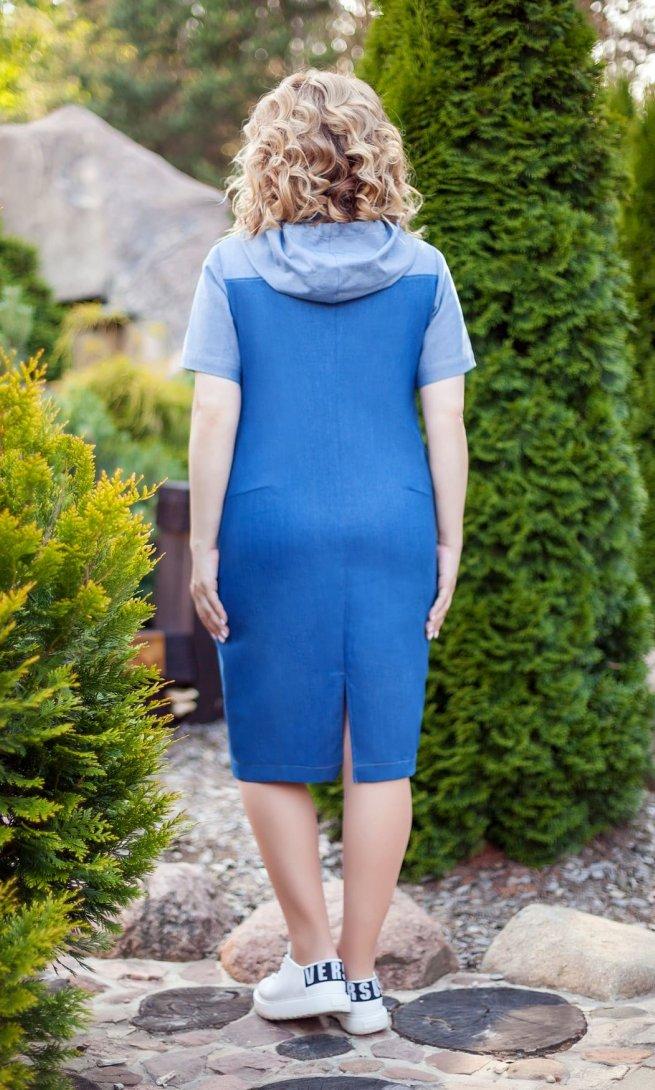 Платье Teza 193 темно-синее