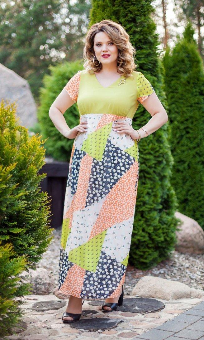 Платье Teza 212 олива