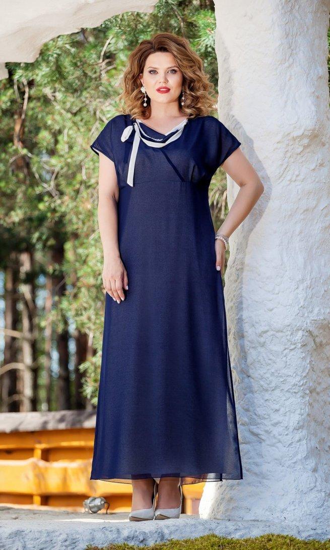 Платье Teza 214 темно-синее