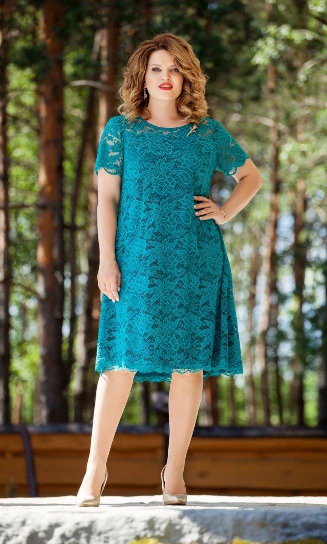 Платье Teza 216 морская волна