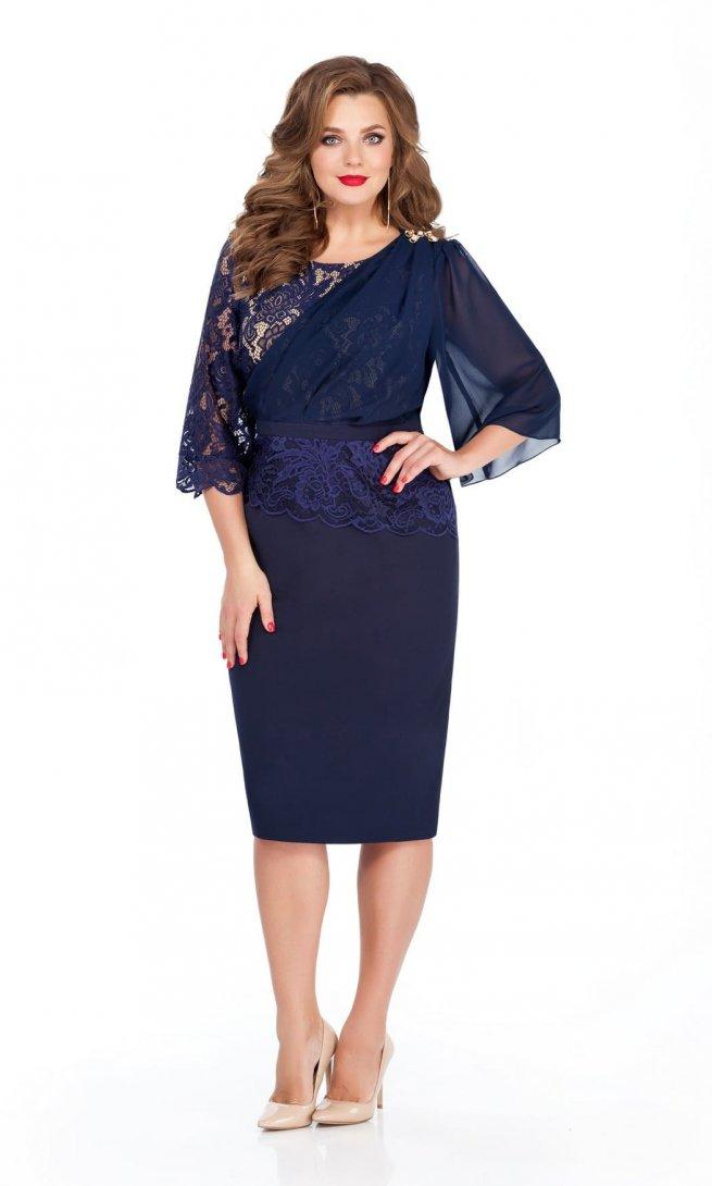 Платье Teza 236 темно-синее