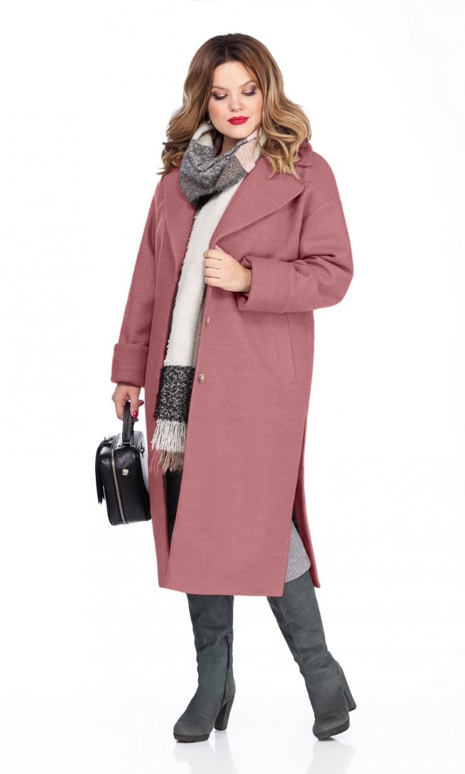 Пальто Teza 267 грязно-розовое