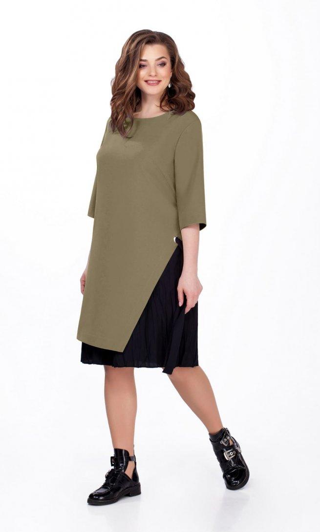 Платье Teza 129 олива